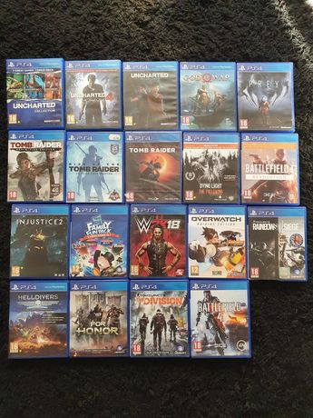 Jocuri ps4 Uncharted , Tomb Raider , Monopoly ,Injustice playstation 4