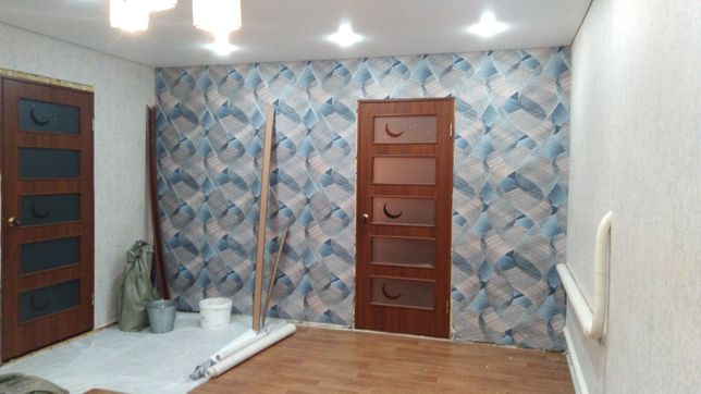 Делаем ремонт квартир, шпатлёвка, обои, покраска, галтели, плентуса .