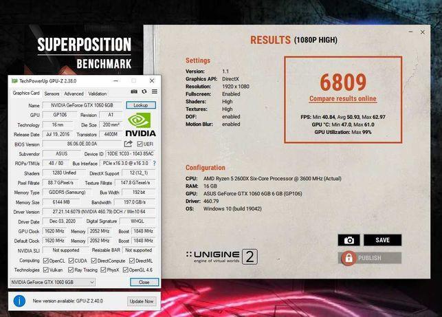 Видеокарта GTX1060 6GB ASUS ROG STRIX Gaming OC. В идеале. Trade-in