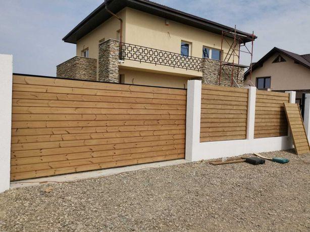 Gard din lemn natural