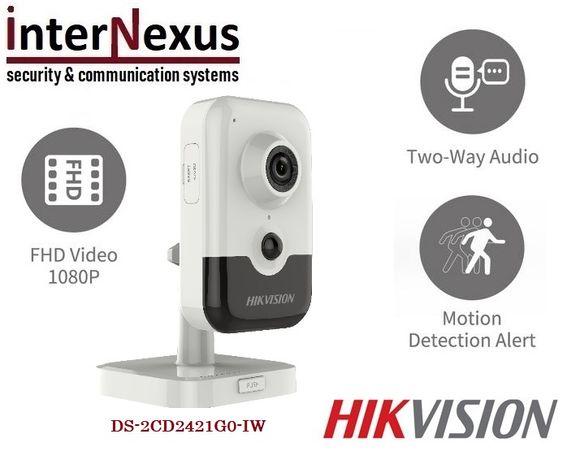 2 MPx Безжична Hikvision Камера DS-2CD2421G0-IW с Микрофон и Говорител
