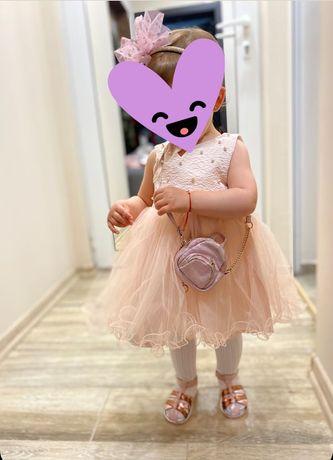 Детска официална рокля 86