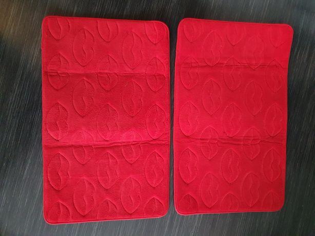Set de 2 covorașe roșii