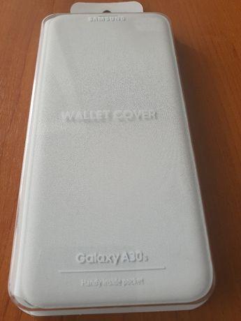 Husă originală samsung Wallet cover a30s albă