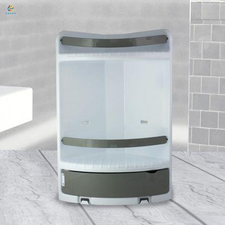 Ъглова стойка за баня с 3 отделения - етажерка органайзер