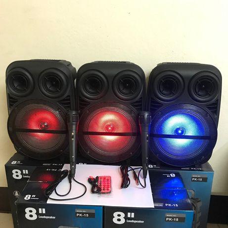 Bt speaker Колонка с Микрофоном.беспроводной колонка.буфер.караоке