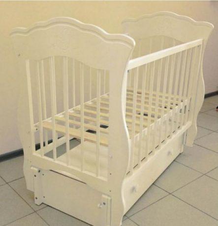 Детская кроватка Елизавета продольный маятник, с ящиком Можгинский лес