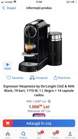 Aparat.   Nespresso
