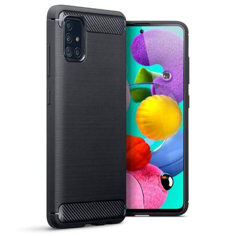 Луксозен калъф / кейс / гръб карбон Carbon за Samsung Galaxy A51