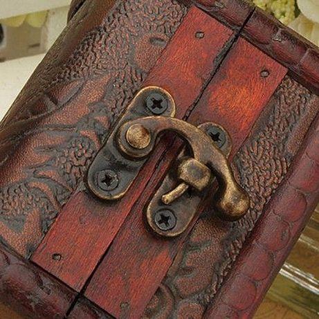 ПРОМО! Винтидж дървена кутийка за бужи