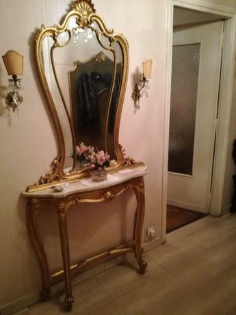Consolă cu oglindă stil baroc