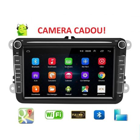 Navigatie Android + Camera Golf Passat Tiguan Touran Caddy