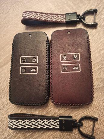 Кожен калъф за ключ Renault Captur Espace Clio Megane Koleos Kadjar