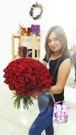 Розы!!! Букет 101 Роза!!!