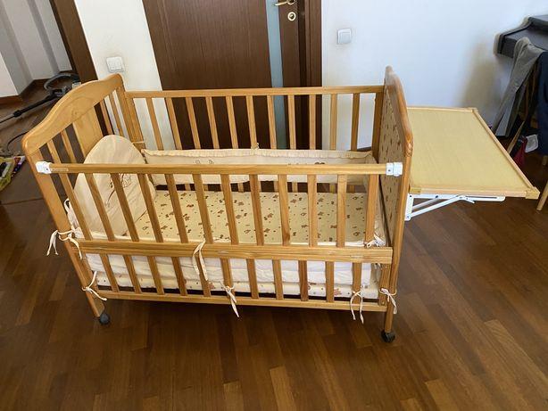 Детская кроватка с 0 до 6 лет с колыбелькой