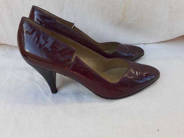Pantofi Versace din piele naturală, mov, mărime 35,5