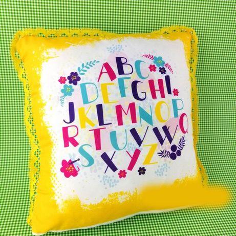 Възглавничка + кърпа с английската азбука