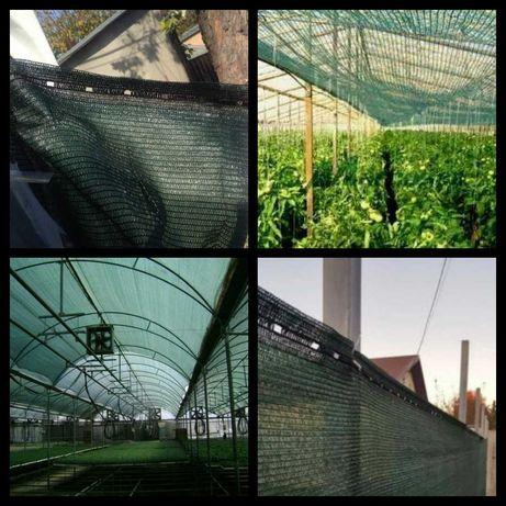 Plasa verde pentru umbrire 90% -gard-mascare-antivant -Liv Gratuita!!!