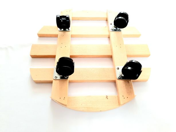 Set 4 suporti lemn diametru 35 cm. NOU. TRANSPORT GRATUIT.