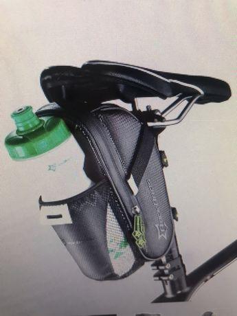 Чанта за седло за велосипеди с джоб за бутилка с вода водоустойчив MTB