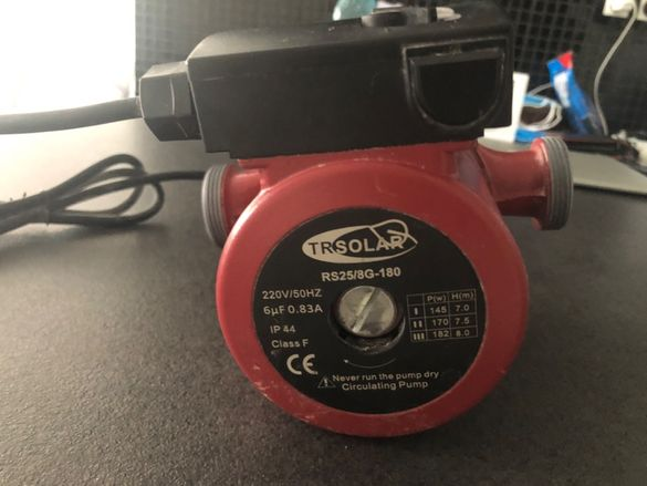 Циркулационна помпа RS25/8G-180 чисто нова , неръждаема турбина