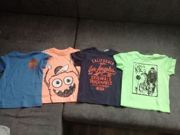 Нови тениски с къс ръкав - 4бр.