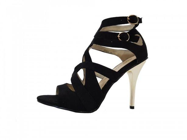 Sandale dama, Mariamare, cu toc, culoare neagra, marimi 36-41