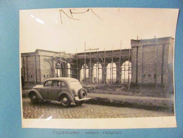Lot 5 fotografii format mare cu auto masini vechi anii '50 / URSS