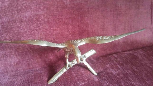 Sculptura vultur bronz masiv