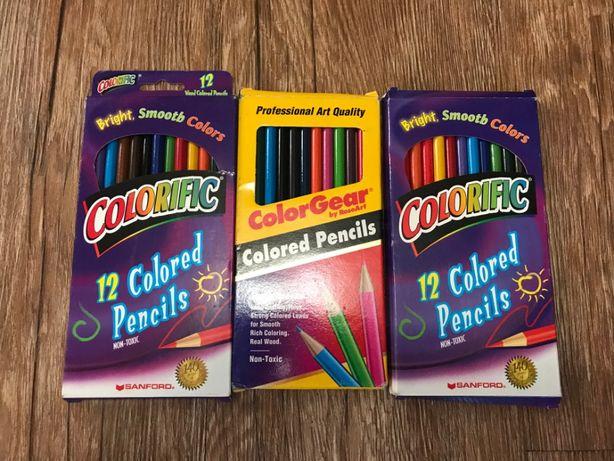 Цветные карандаши 12 цветов, оригинал - американские