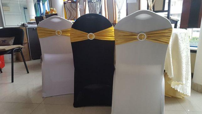 Funde Decorative, Banderole Cu Inel, Banda Elastica Scaune Evenimente