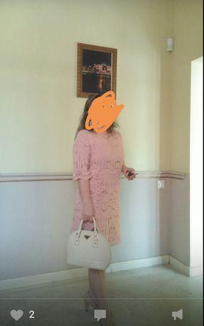 Платье женское сиреневое44-46р и розовое кружевное42-44 р