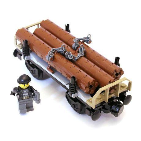 Lego original, Vagon busteni din setul 60198 (nou, sigilat)