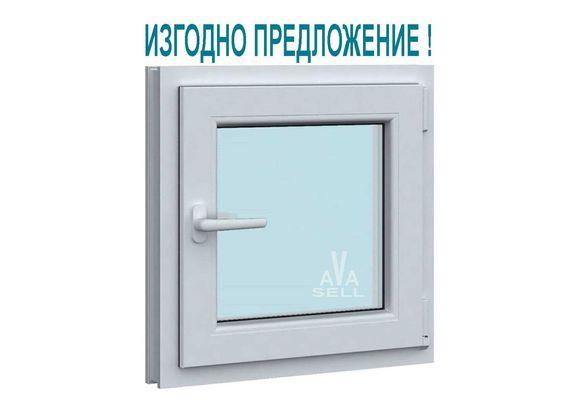 ПВЦ прозорец за баня , WC , склад , PVC прозорец за изба бял 51х51 см