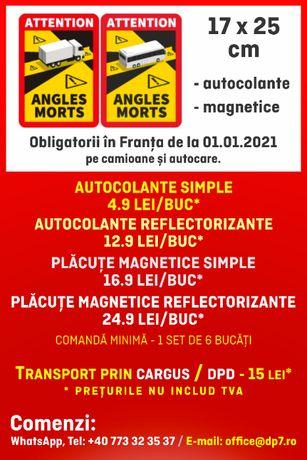 Stickere Angles Morts, autocolante, magnetice sau/si reflectorizante
