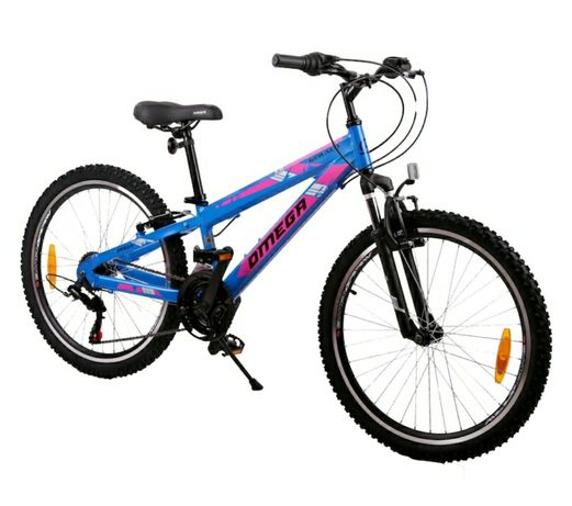 "Bicicleta mountainbike copii Omega Gerald 24"", 18 viteze Albastru 2021"