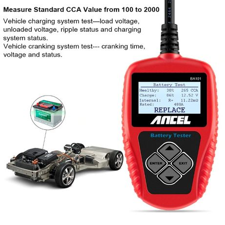 Tester auto baterii, alternator, electromotor Ancel BA101 Universal 12