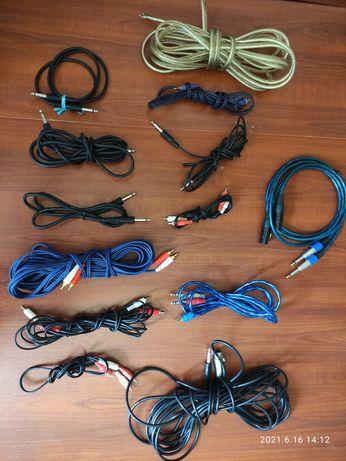 Провода аудио, микрофонные, композитные,RCA,Jack 6.3, mini jack 3.5...