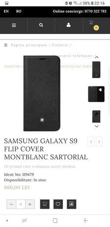 Husa flip smart/activa noua originala Samsung Montblanc Sartorial S9
