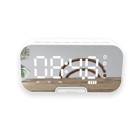Часовник с тонколона ,Bluetooth:5.0,Аларма,Температура,Водоустойчив