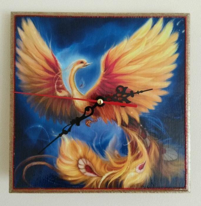 Стенен часовник Феникс - Ръчна изработка!