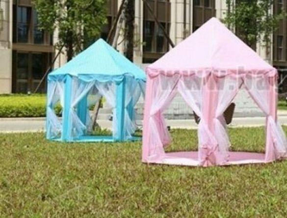 Детска палатка, шатра със завеси за дома,градината, плаж и къмпинг