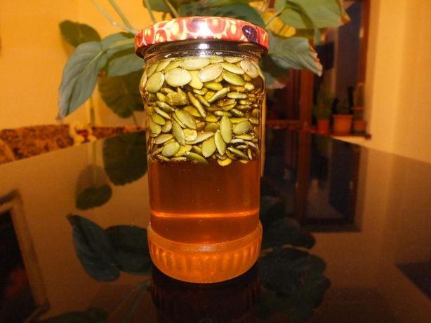 Miere cu seminte de dovleac