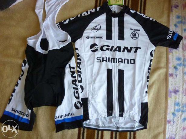 echipament ciclism giant shimano set pantaloni tricou