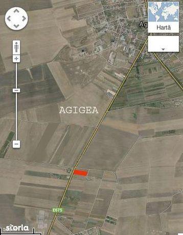 Intravilan 5000mp varianta Agigea-Techirghiol -pe culme- la Sosea RAJA