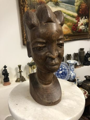 Statueta veche arta africana din lemn