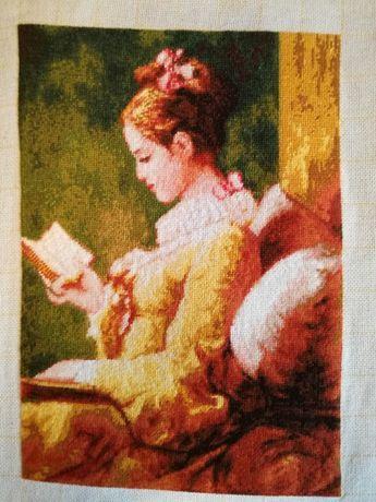 """Гоблен """"Момичето с книгата"""""""