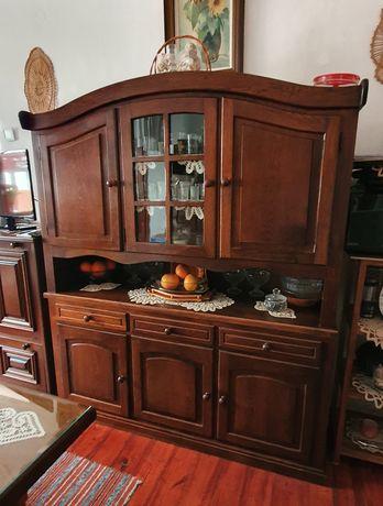 Mobilier de sufragerie din lemn de stejar masiv rustic