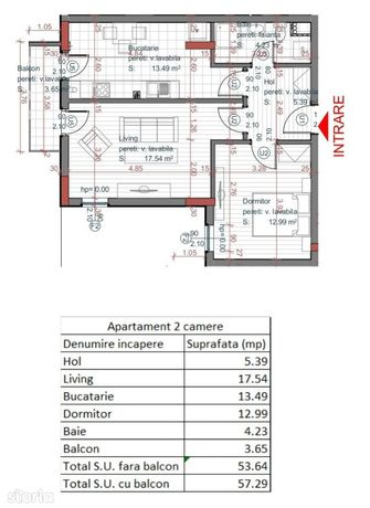 Apartament 2 camere - Cel mai bun pret pe metru patrat - Piata Cluj