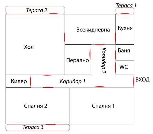 Апартамент 120кв.м. в с.Водица общ.Попово